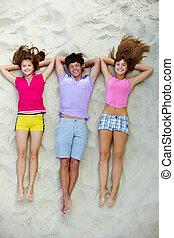compagnie, de, adolescents