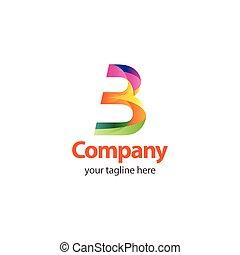 compagnie, illustration, 3, vecteur, conception, gabarit, logo