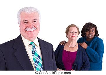 compagnie, multi-culturel, équipe