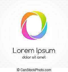 compagnie, o, vecteur, conception, lettre, logo, template.