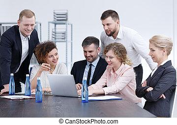 compagnie, réunion, business