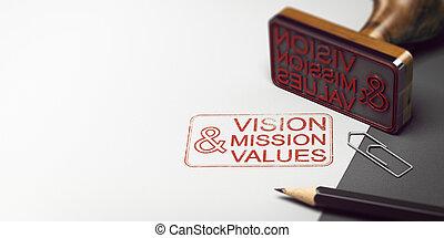compagnie, vision, valeurs, mission, déclaration