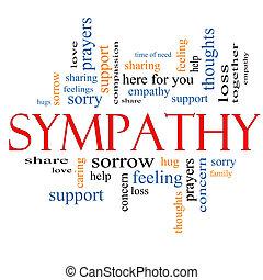 compaixão, palavra, nuvem, conceito