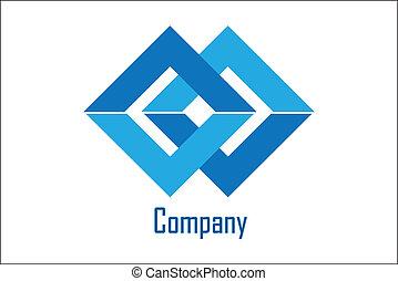 companhia, amostra, logotipo