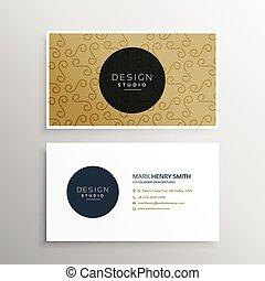 companhia, apresentação, cartão negócio, modelo