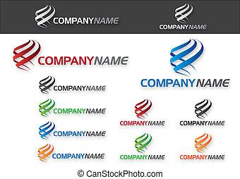 companhia, (business), logotipo, desenho