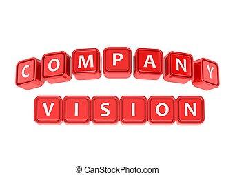 companhia, buzzword, visão