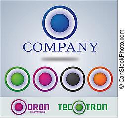 companhia, logotipo, desenho, alvo, círculo