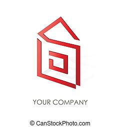 companhia, logotipo, desenho