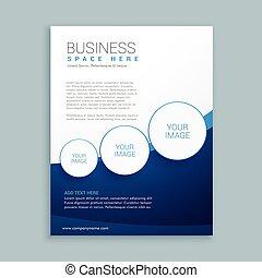 companhia, negócio, folheto, página, desenho