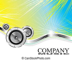companhia, negócio música, cartão