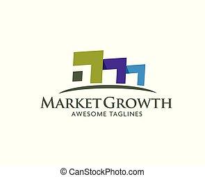 companhia, propriedade, logotipo, negócio, real