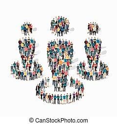 companhia, símbolo, pessoas