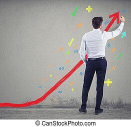 company., δικός του , αποσύρω , επιτυχία , θετικός , γενική ιδέα , επιχειρηματίας , στατιστική
