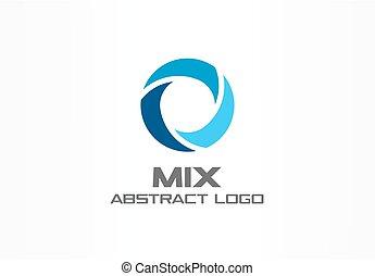 company., abstract, logotype, gezondheidszorg, teamwork, ontwerp, logo, element., concept., drie, malen, vermalen, kolken, cirkel, blauwe , zakelijk, globe, water, segment, identiteit, blauwgroen, idea., collectief