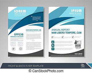 Company annual report - Blue annual report brochure flyer ...