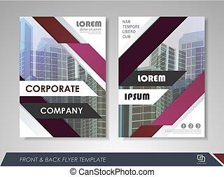 Company annual report - Purple annual report brochure flyer...