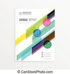 Company Brochure Template Design With Colorful Abstract Shapes, Annual  Report Cover Page In A4 Size  Annual Report Cover Page Template