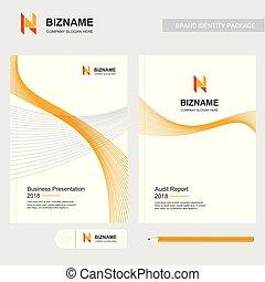 Company brochure with creative design vector