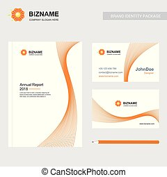Company brochure with creative design vector with flower logo