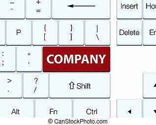 Company brown keyboard button