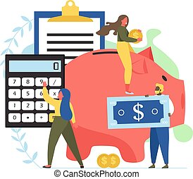 Company budget vector flat style design illustration