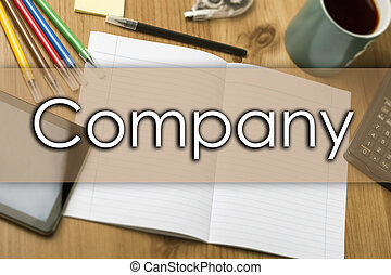 Company - business concept with text