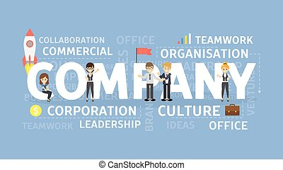 Company concept illustration. Idea of corporation,...