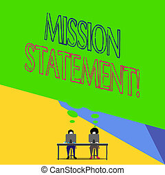 company., concept, mot, business, texte, mission, vise, écriture, valeurs, statement., résumé, formel