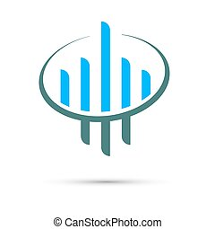 Company, concept vector logo design template. Creative business symbol. Skyscraper abstract icon.