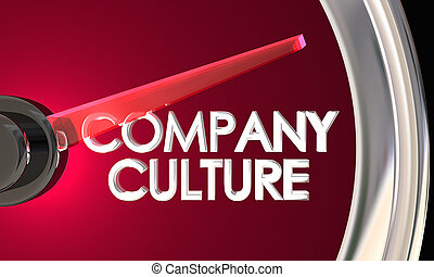 Company Culture Speedometer Business Lifestyle 3d Illustration
