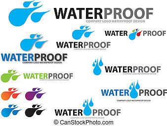 Company Design Water Drop Logo, vec - Vector image for...