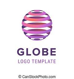company., firma, abstrakt, linjer, isoleret, illustration, tegn, sphere, vektor, konstruktion, baggrund, logo, hvid, template.