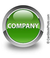Company glossy soft green round button