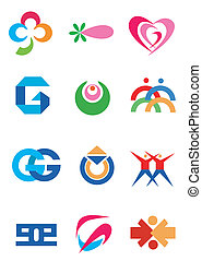Several concepts for company logos. Vector illustration.