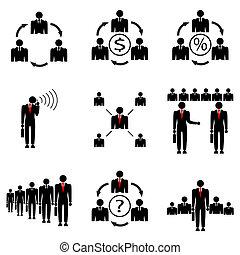 company., kierownictwo, bezpośredni, handlowy