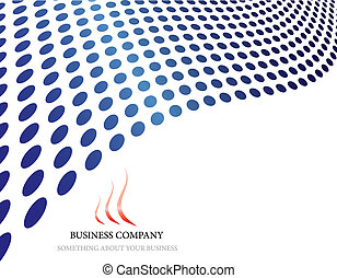 company logo - Abstract company page with label and...