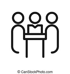 company meeting vector illustration