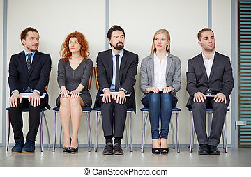 Company of co-workers - Portrait of several elegant...