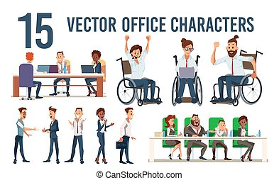 Company Office Workers Vector Characters Set