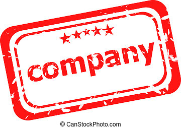 company on red rubber stamp over a white background