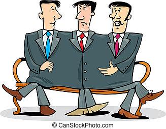 Company partners - Concept illustration of company partners