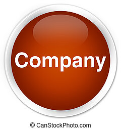 Company premium brown round button