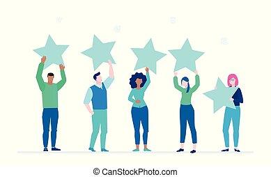 Company rating - flat design style colorful illustration