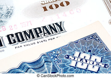 Company Shares - Company Stock Certificates