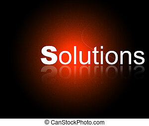 Company Solutions - Word Solutions with reflection in a...