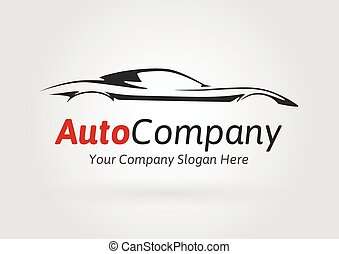 Company sports car silhouette logo - Modern Auto Company ...
