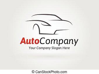Company sports car silhouette logo - Auto Company Vehicle...