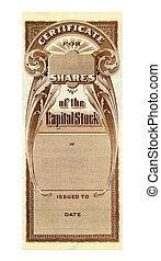 Stock Certificate - Company Stock Certificate