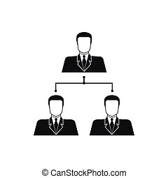 Company structure icon, simple style - Company structure...